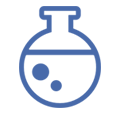 ikona probówki laboratoryjnej