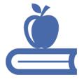 ikona jabłko na książce